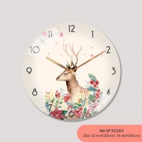 Đồng hồ treo tường trang trí phòng khách, đồng hồ tranh treo tường mã K0383