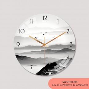 Đồng hồ treo phòng khách đẹp, mẫu đồng hồ treo tường sang trọng mã K0384