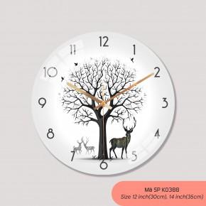 Đồng hồ trang trí phòng khách, đồng hồ treo tường phong cách hiện đại mã K0388