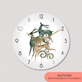 Tranh dong ho treo tuong, các kiểu đồng hồ treo tường đẹp mã K0389