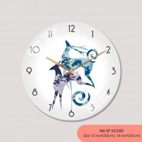 Đồng hồ trang trí nội thất, tranh đồng hồ treo tường mã K0390