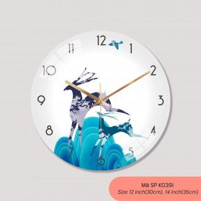 Đồng hồ treo tường phòng khách, đồng hồ treo tường tranh mã K0391