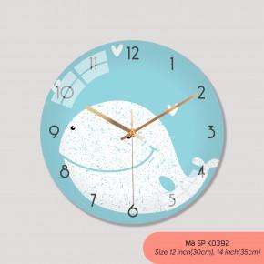 Tranh đồng hồ treo tường, đồng hồ treo phòng ngủ mã K0392