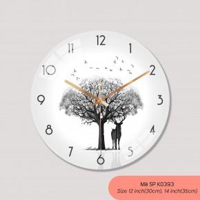 Đồng hồ treo tường giá rẻ, tranh dong ho treo tuong mã K0393