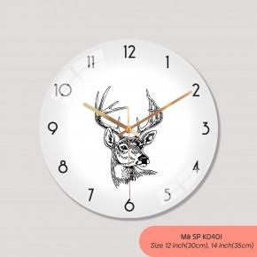 Mẫu đồng hồ treo tường, tranh đồng hồ treo tường đẹp mã K0401