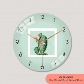 Đồng hồ treo tường phòng khách đẹp, đồng hồ tranh treo tường mã K0407
