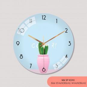 Đồng hồ trang trí phòng khách, tranh đồng hồ treo tường đẹp mã K0411