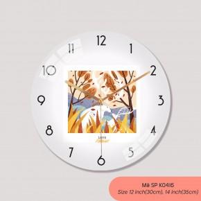 Đồng hồ treo phòng khách đẹp, hình ảnh đồng hồ treo tường đẹp mã K0416