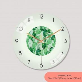 Tranh treo tường có đồng hồ, đồng hồ trang trí nội thất mã K0425