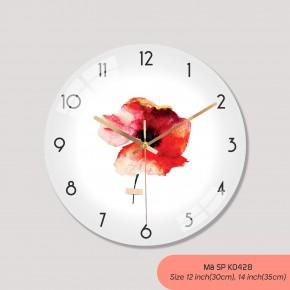 Đồng hồ treo tường phòng khách đẹp, đồng hồ tranh treo tường mã K0428