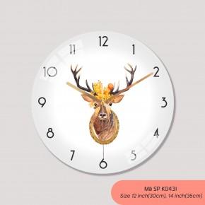 Mau dong ho treo tuong, đồng hồ tranh treo tường mã K0431