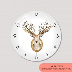 Đồng hồ treo tường phòng khách, đồng hồ treo tường tranh mã K0434