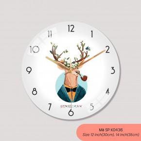 Đồng hồ treo phòng ngủ, tranh đồng hồ treo tường mã K0436