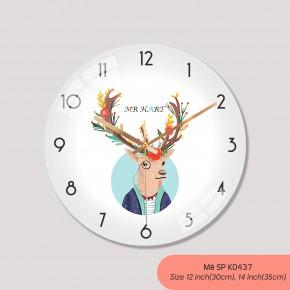 Đồng hồ treo phòng khách đẹp, tranh đồng hồ treo tường mã K0437
