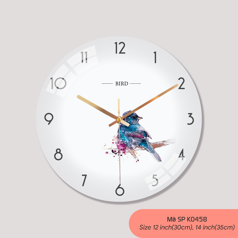 Đồng hồ tranh treo tường, mẫu đồng hồ treo tường mã K0458