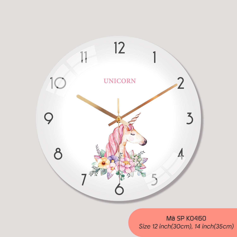 Tranh dong ho treo tuong, đồng hồ treo tường phòng khách mã K0460