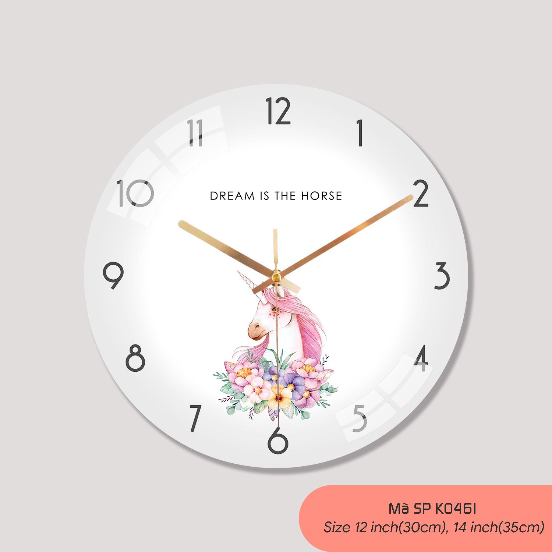 Đồng hồ tranh treo tường, đồng hồ treo tường rẻ mã K0461