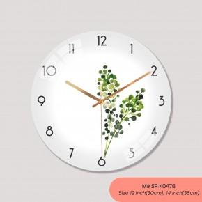 Đồng hồ treo phòng ngủ, tranh đồng hồ treo tường đẹp mã K0478