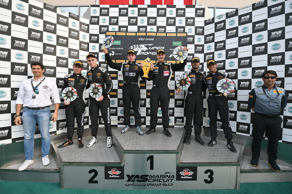 Lamborghini Super Trofeo, title triumph for Target in its Middle East series debut