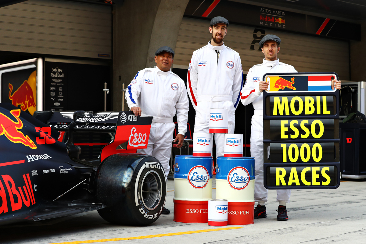 Exxonmobil celebrates its participation in F1 at the 1,000th Grand Prix