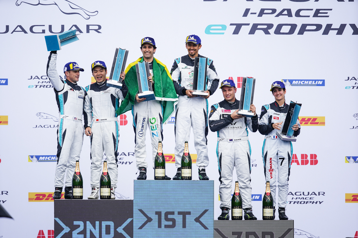 Sergio Jimenez wins Jaguar I-Pace eTrophy in Rome to lead the series