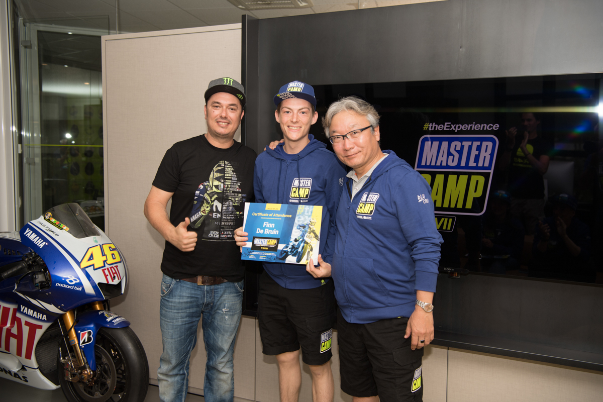 Students finish the seventh Yamaha VR46 Master Camp