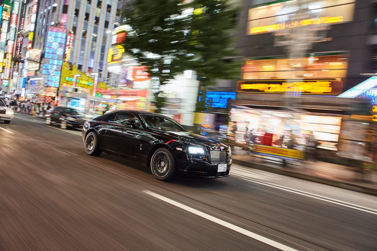 Rolls-royce curates photography series 'Black Badge: Tokyo After Hours'