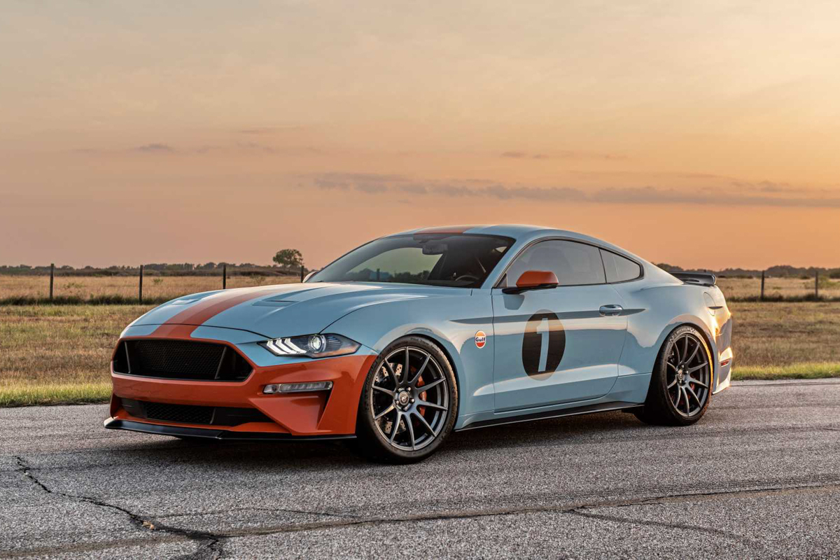 Brown Lee Performance Gulf Heritage Ford Mustang
