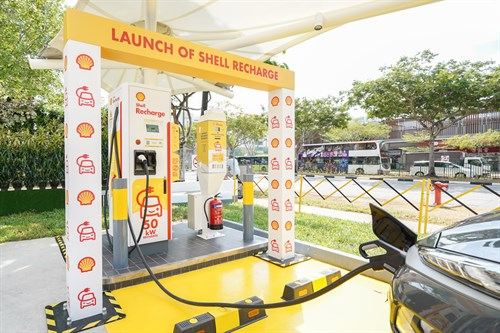 Shell launches Singapore's first electric vehicle charging points
