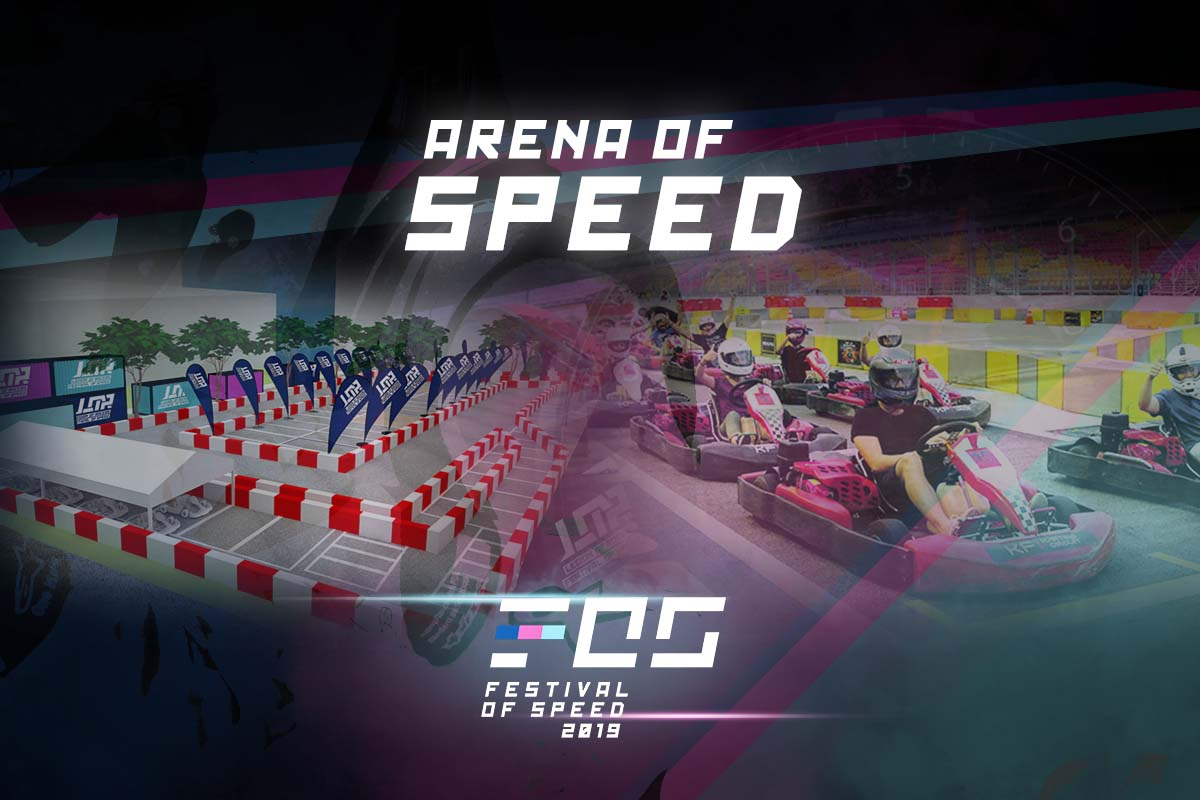 Arena Of Speed at the 2019 Festival Of Speed