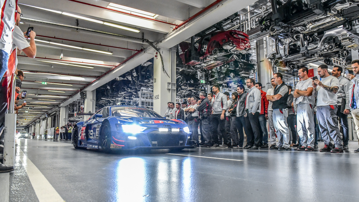 Audi employees in Ingolstadt celebrate DTM Champion René Rast and successes in GT racing