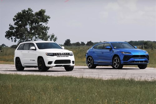 Jeep Trackhawk vs Lamborghini Urus - Drag Race Comparison