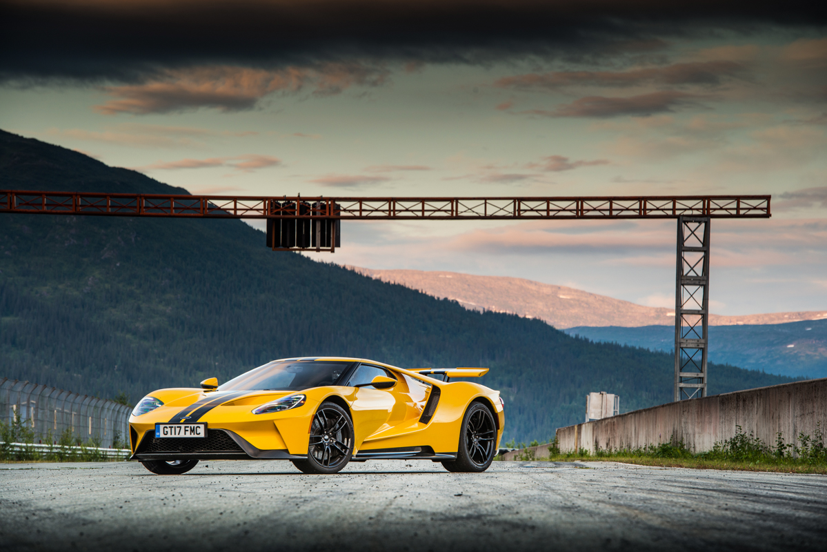 Ford Gt In Norway Fjord Gt