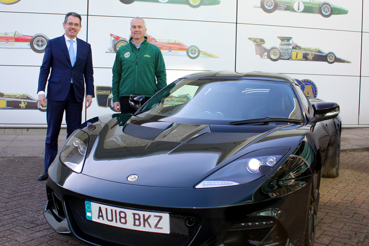 New Lotus Evora GT410 Sport for Clive Chapman
