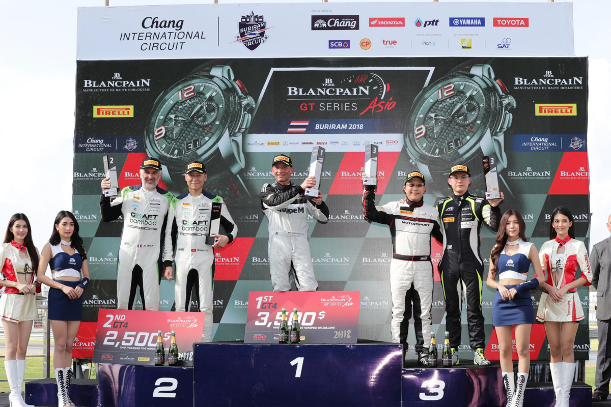 2018 Blancpain GT Series Asia - GruppeM Racing celebrate GT3 and GT4 victories at Buriram