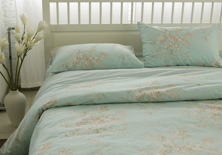 French Country Cottage Shabby Chic Blue Duvet Quilt Cover