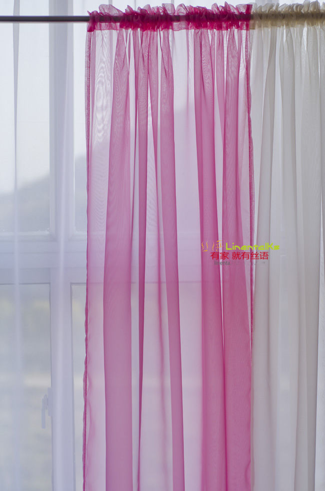 2x Solid Blue Pink Green White Yellow Purple Sheer Voile Curtain Panel 20 Color Ebay
