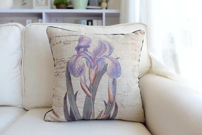 Shabby Chic Linen Pillows : 18