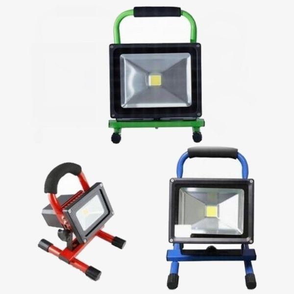 10w 20w 30w 50w akku led fluter handlampe arbeitsleuchte baustrahler strahler. Black Bedroom Furniture Sets. Home Design Ideas