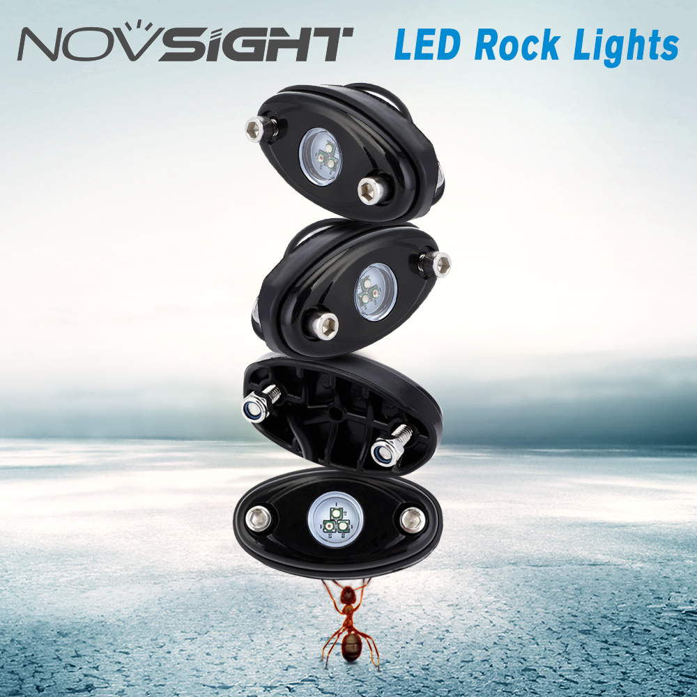 Novsight 4pods Rgb White Led Rock Lights Car Chassis Lamps