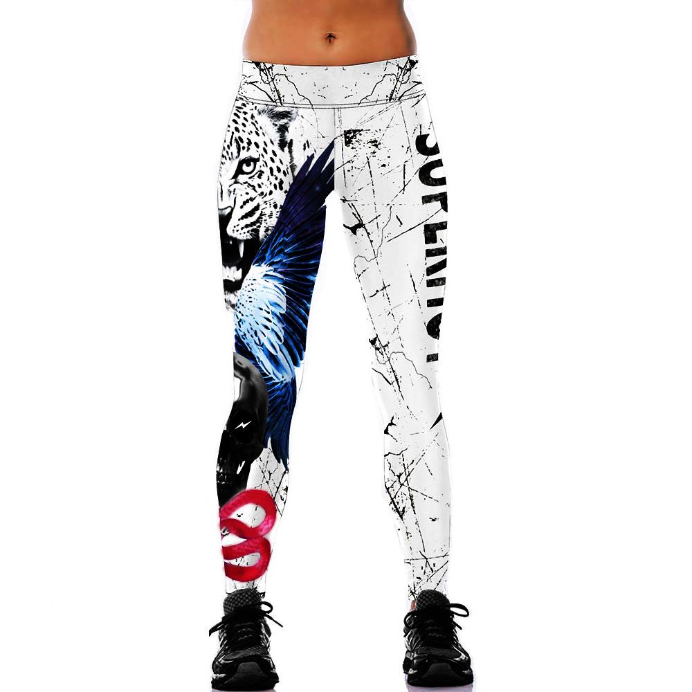 Women YOGA Workout Gym Print Sport Pants Leggings Fitness