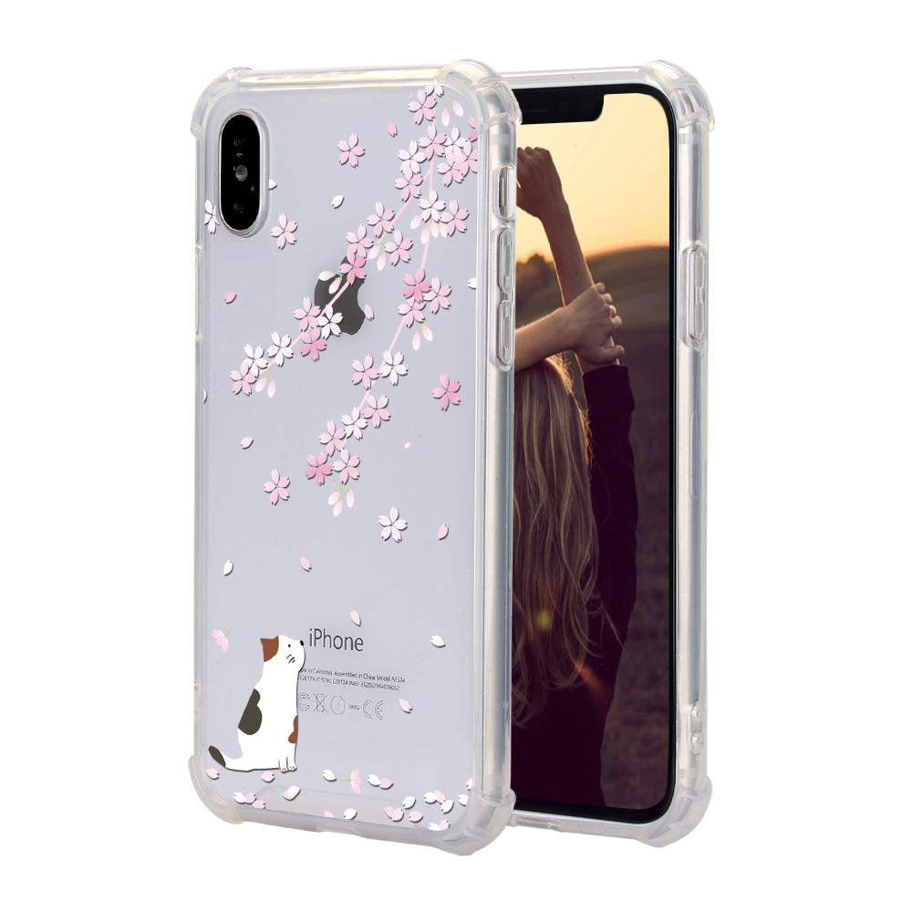 shockproof flowers sakura clear tpu pc phone case cover. Black Bedroom Furniture Sets. Home Design Ideas