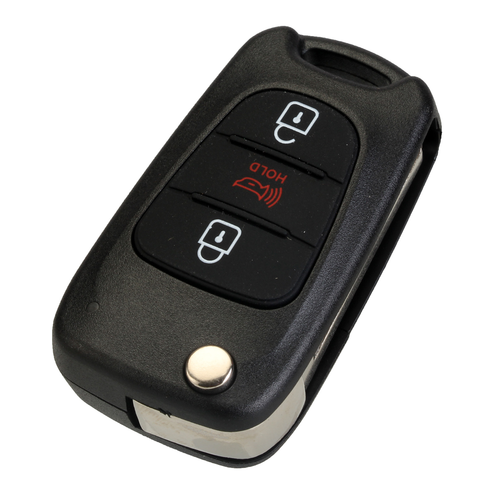 For Kia Soul 3 Buttons Remote Flip Entry Key Fob Case