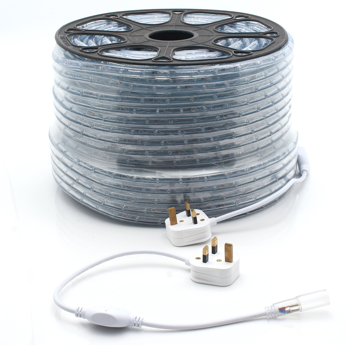 UK Plug 20 meter Colorful LED Strip Light Flexible Rope 2-Wire ...