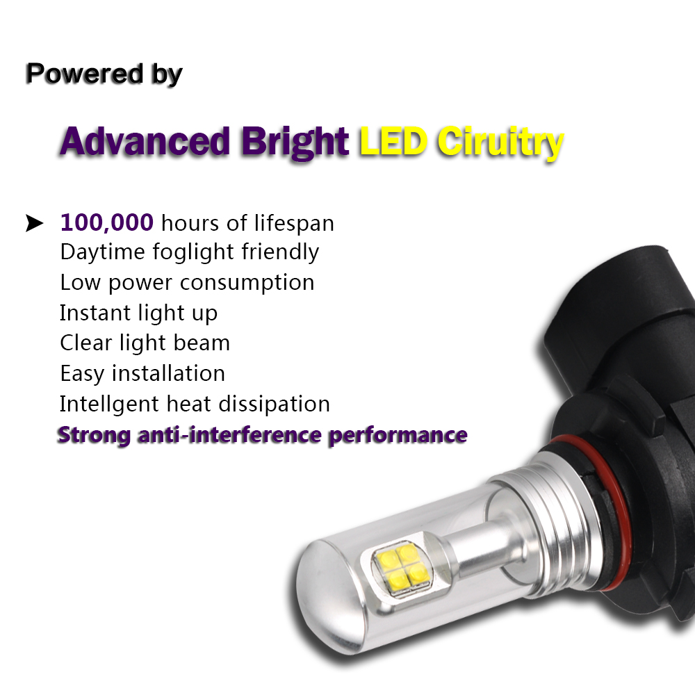 led 80w 9005 9006 h1 h3 h4 h7 h11 nebel licht birne. Black Bedroom Furniture Sets. Home Design Ideas