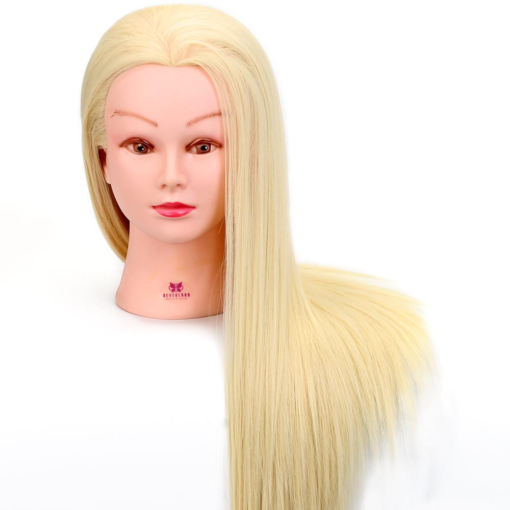 20 30 50cm Blonde Echthaar 220 Bungskopf Friseurkopf