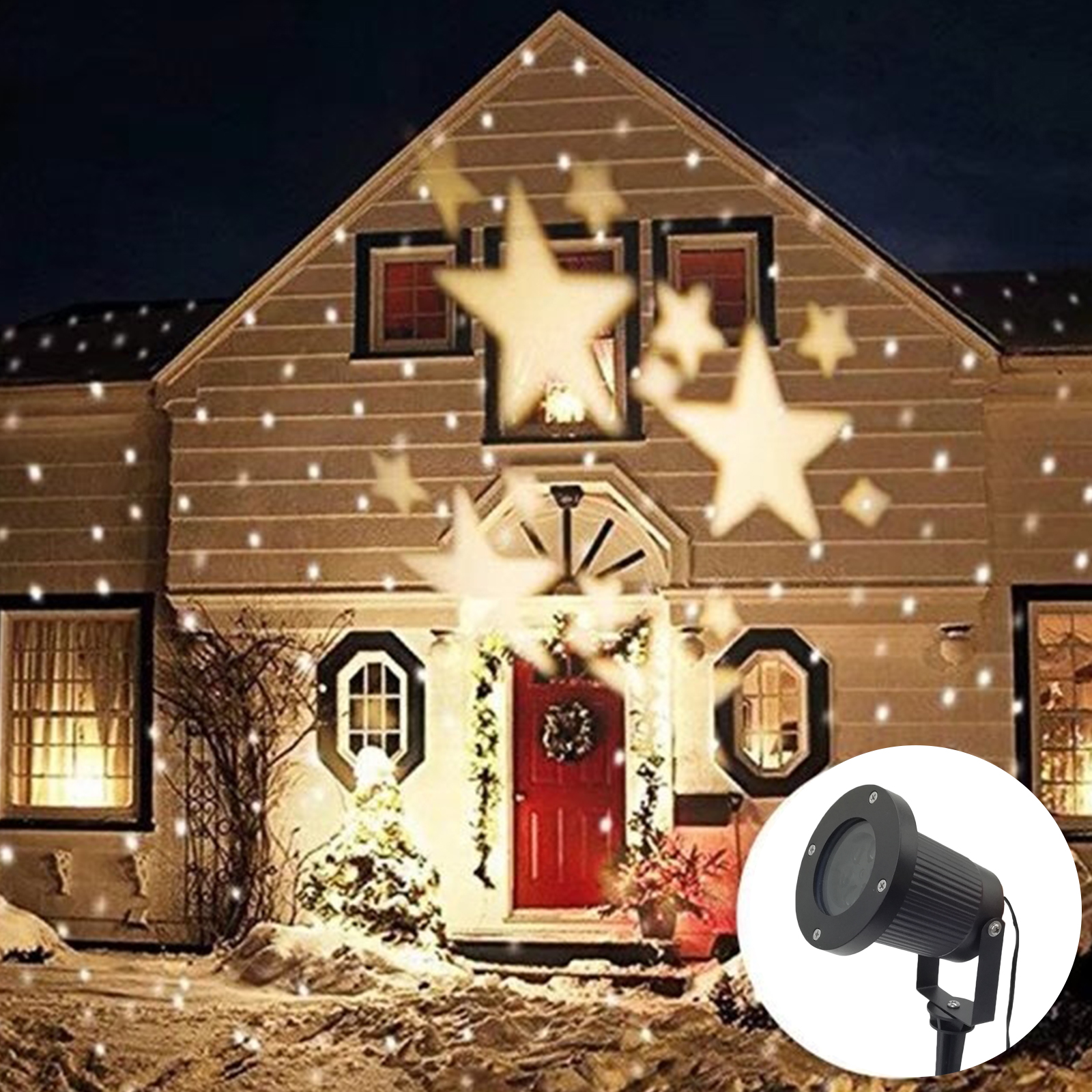 Reject Shop Laser Christmas Lights: Christmas Light Laser Projection Warm White Xmas Lamp