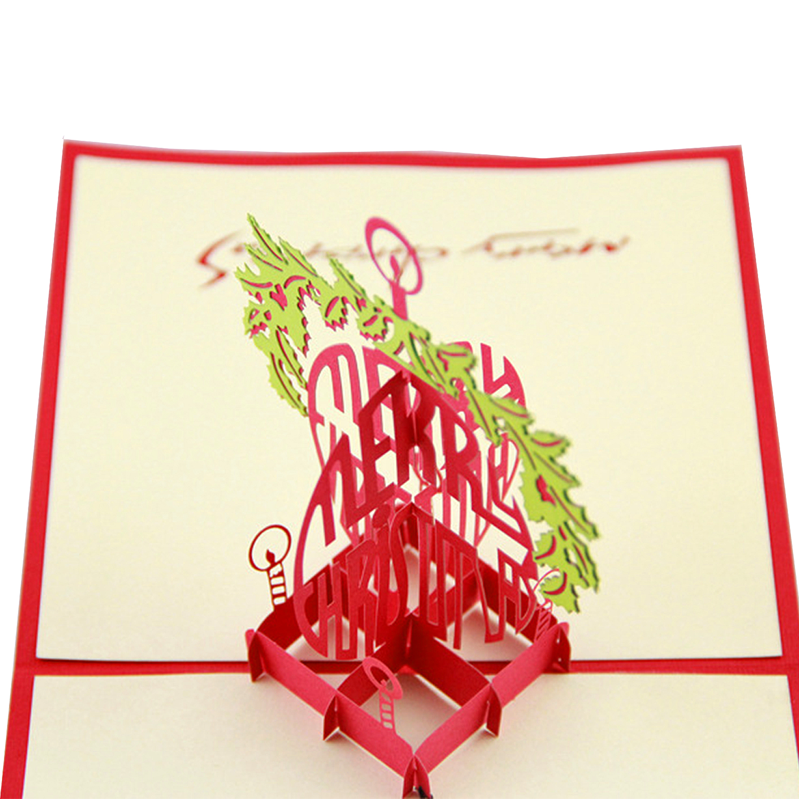 holiday cards 3d pop up handmade merry christmas greeting