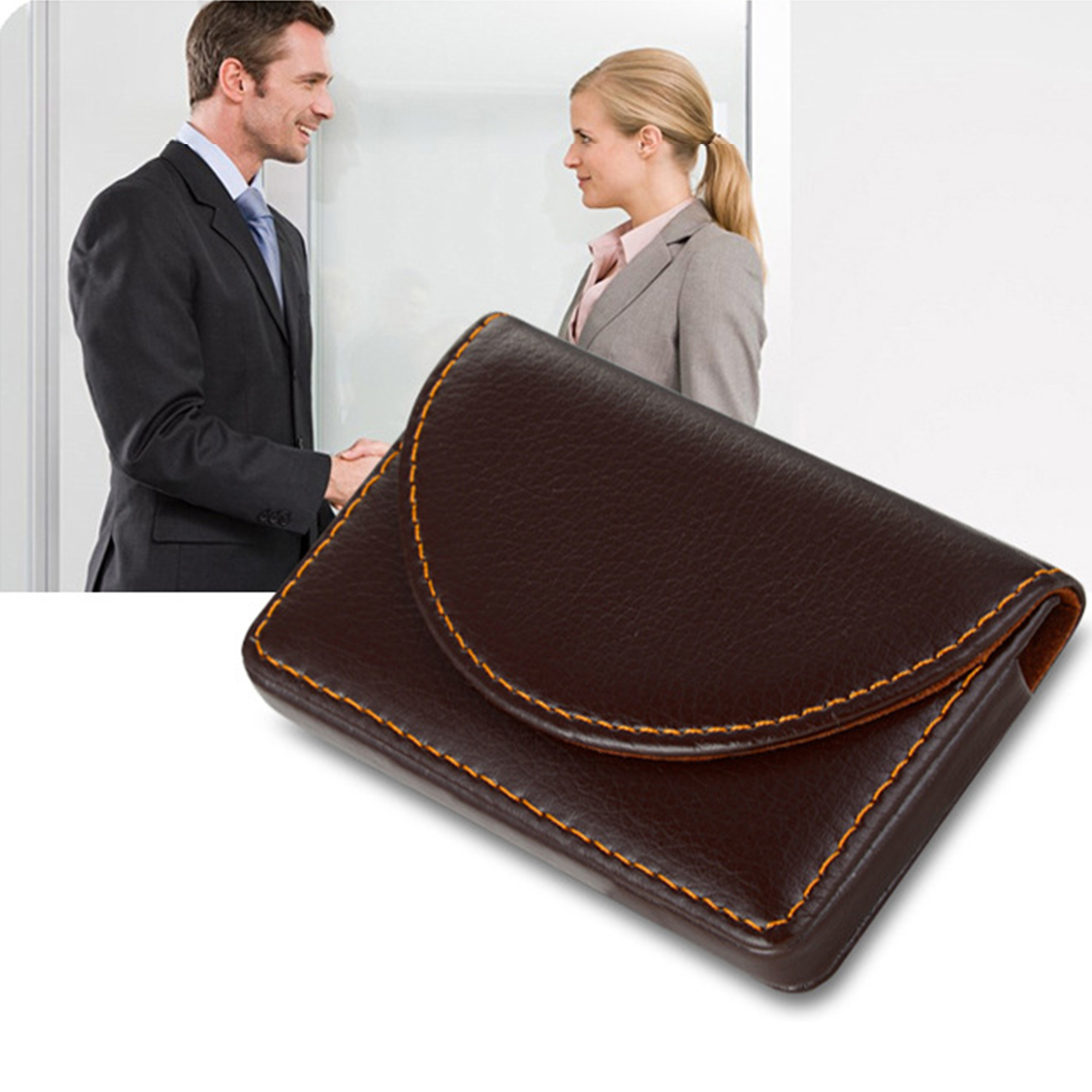 professional leather 20 business name card holder credit