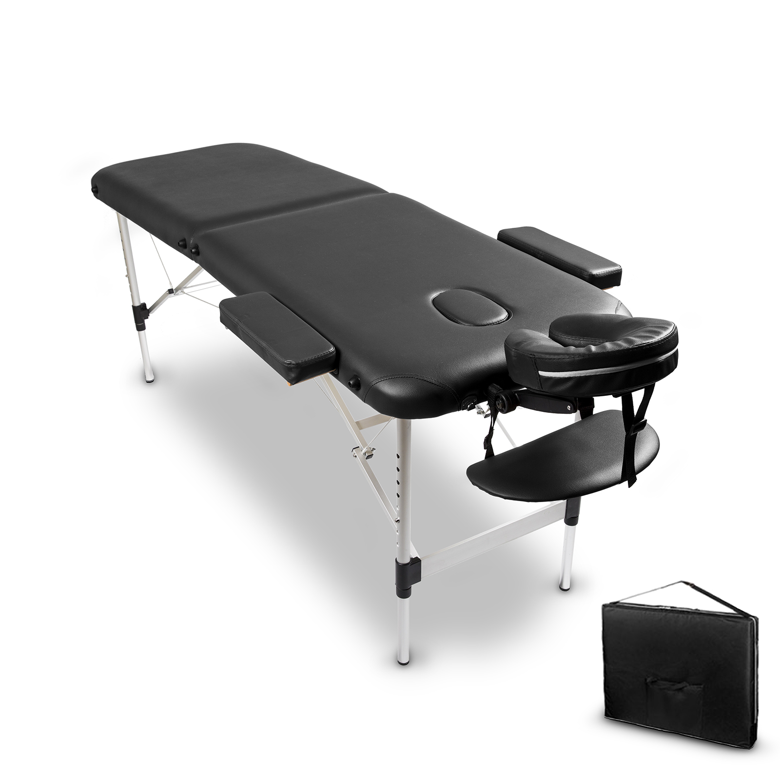 Bærbar Aluminium 2 Fold Massage Bord Bed Stollegeme-7615